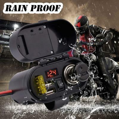 Multifunction Motorbike Waterproof USB Charger Power Socket Motorcycle Cigarette