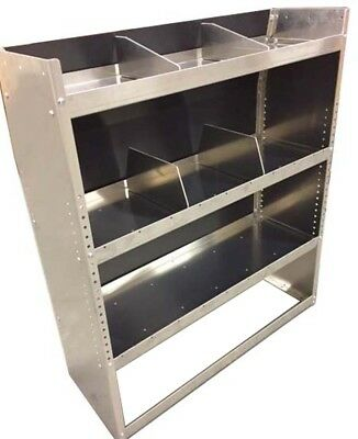 """Aluminum Van Shelving Storage for Full Size Ford / GMC / Chevy 45""""L x 44""""H x 13D"""