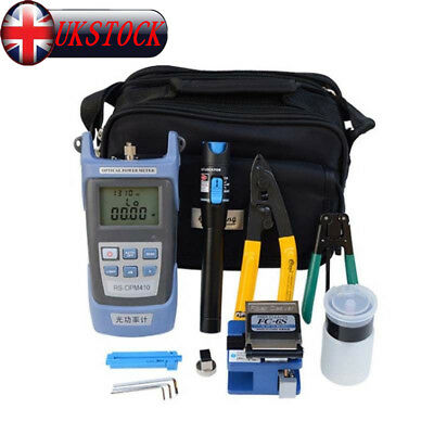 Fiber Optic FTTH Tool Kit FC-6S Fiber Cleaver Optical Power Meter Visual Fault D