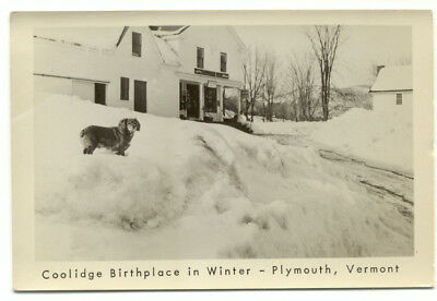 Plymouth VT Coolidge Birthplace In Winter Postcard  - Vermont