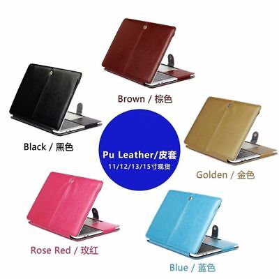 PU Leather Case Hard Shell Laptop Cover for MacBook 11 Air 12 Pro Retina 13 15