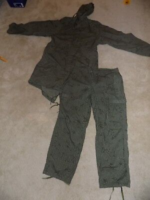 Night Camo Desert Parka with pants Small US Issue fish tail BinAC