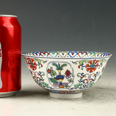 Chinese Exquisite Porcelain Hand-Painted Pattern Bowl W Qianlong Mark