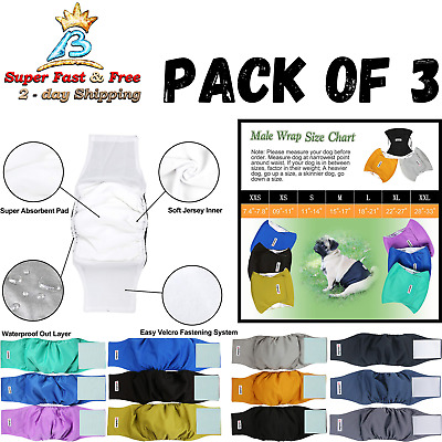 Male Dog Puppy Diapers Belly Wrap Elastic Band Washable Waterproof Outer Layer