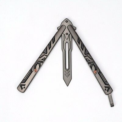 Training Practice Metal Steel Box Butterfly Knife Overwatch Balisong Trainer US