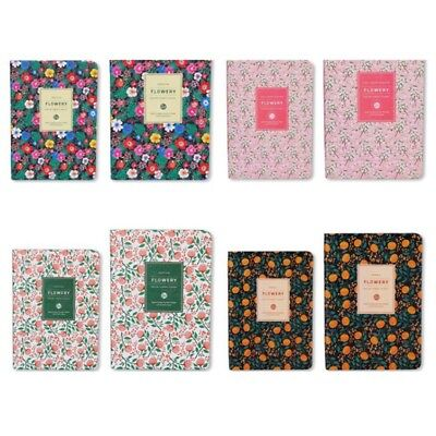 Cute Floral Flower PU Leather Schedule Book Diary Weekly Planner Notebook Kids