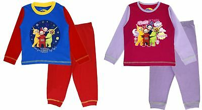 Boys Girls Teletubbies Pyjamas Pjs Full Length PJ Set Infant Nightwear Kids Size