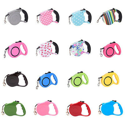 5/3m Pet Dog/Cat Puppy Automatic Retractable Traction Rope Walking Lead Leash Gq