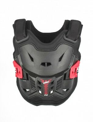 New Youth Leatt 2.5 Mini Body Armour Junior Kids Black Red Chest Protector MX