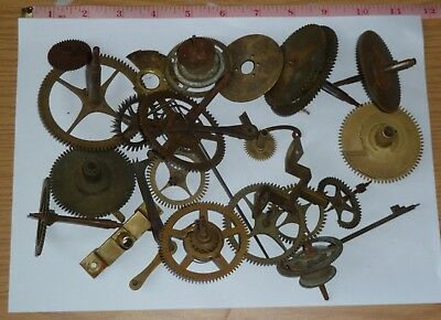 Vintage Longcase clock movement parts for steampunk or decoration