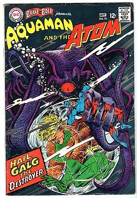 Brave and the Bold #73 Featuring Aquaman & Atom, Fine Condition'