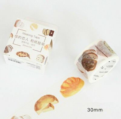 Wide Washi Tape Food and Drinks 30mm wide sold by meter