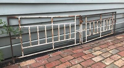 VINTAGE ART DECO WROUGHT IRON METAL HOUSE DRIVEWAY GATES Garden Trellis