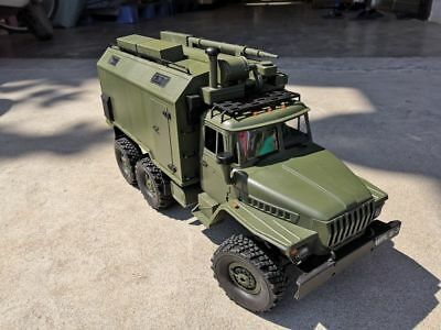 1:16 RC Ural Military Truck 1/16 2.4G 6WD Command Communication Army Truck Kit