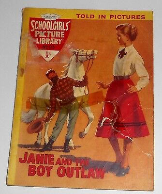 #93 Schoolgirl's Picture Library Comics ~ JANIE AND THE BOY OUTLAW ~ 1960