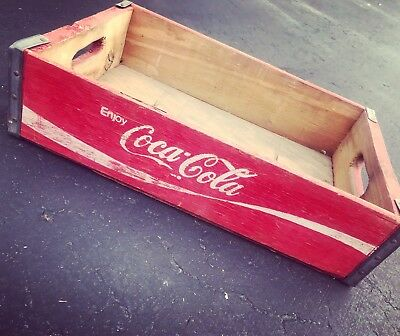 #6 Vintage 1978 Red Coke Coca Cola Wood Soda Pop Case Crate Viking Bottling Co