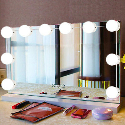 Hollywood Mirror Vanity LED Light Beauty Dressing Makeup 10 Bulbs Dimmer AU Plug