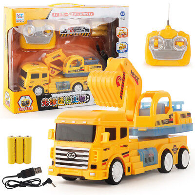 Vogue 1:24 New RC Truck Car Excavator Remote Control 4CH Toys Gift For Kids