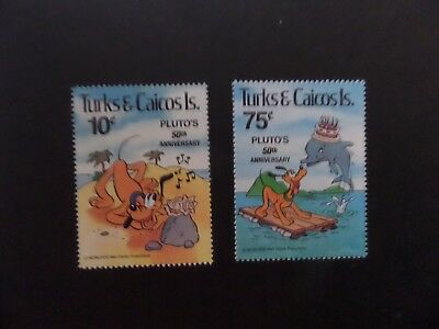 Turks & Caicos 1981 Easter Disney Pluto 50th SG643/6 MNH UM unmounted mint