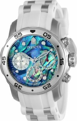 24829 Invicta 38mm Women's Steel & White Polyurethane Strap Watch
