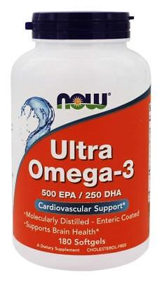 Now Foods Ultra Omega 3  500 EPA/250 DHA 180 Softgels