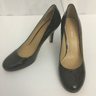 3483f9e11088 NINE WEST NWAMBITIOUS Black Leather Pumps Size 8 M Womens Heels Retail  79