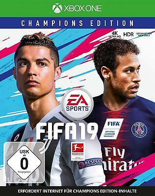 Xbox One Game Fifa 19 Champions Edition 2019 Football German Version DHL New