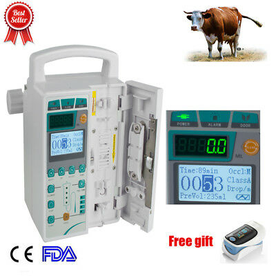 Infusion Pump Injection Machine KVO Multi-language /Voice Alarm 0.1-1200ml/h A+