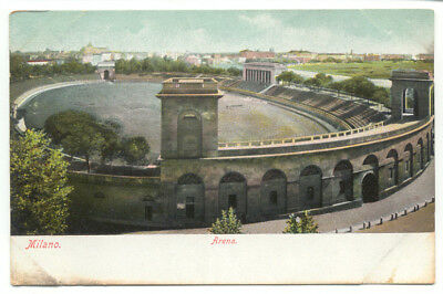 Milano Italy Arena Old Postcard