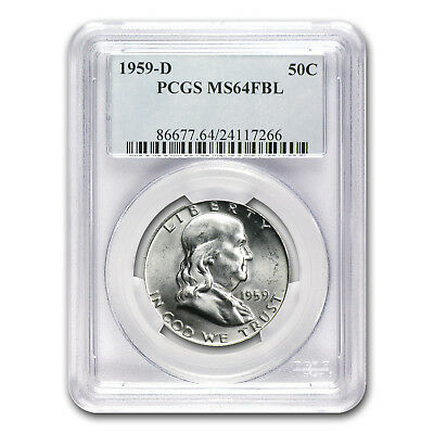 1959-D Franklin Half Dollar MS-64 PCGS (FBL) - SKU #67257