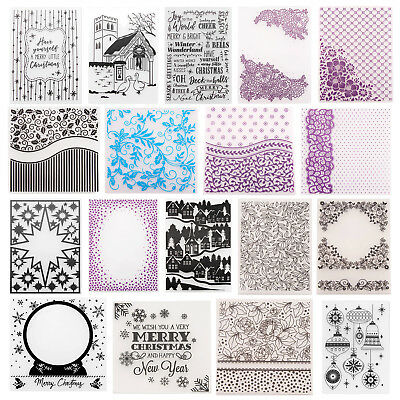 Christmas Embossing Folders Stencil Template Scrapbooking Paper Card Craft Decor