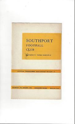Southport v Doncaster Rovers Football Programme 1969/70