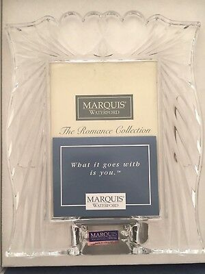 NIB! Waterford Marquis 3.5x5 Romance Picture Frame Hearts Retail $49.00