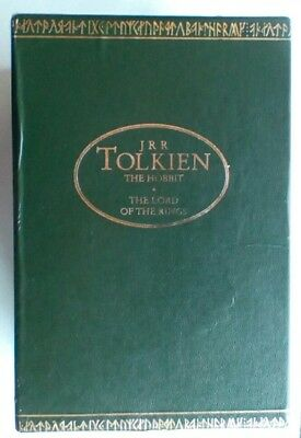 Lord of the Rings & Hobbit 4 Books JRR Tolkien Box Set Ted Smart Collection