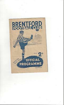Brentford v Sheffield United Football Programme 1946/47