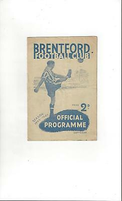 Brentford v Middlesbrough Football Programme 1946/47