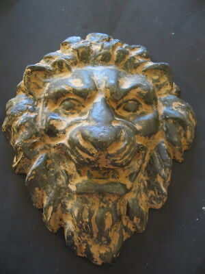 ANCIENT HELLENISTIC GREEK LION HEAD MASK FROM CARRIAGE 300-100 B.C. 2850 grams
