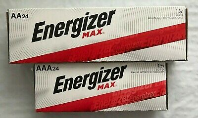 Energizer Alkaline AA & AAA Max Batteries(24+24-Pack) New