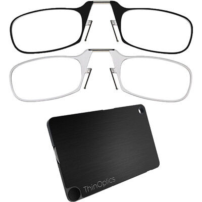 ThinOptics Secure Fit Armless Ultralight Reading Glasses with FlashCard Case