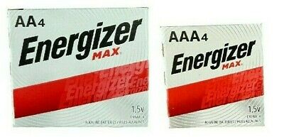 Energizer Alkaline AA & AAA Max Batteries(4+4-Pack) 8 Batteries New