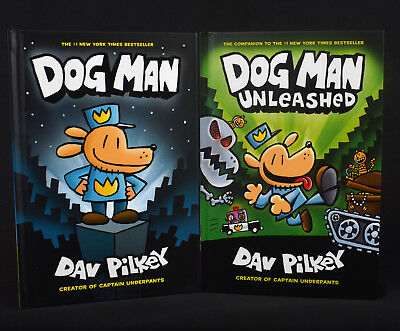 Dog Man Book Set Collection Series 1 & 2 Lot  DogMan Unleashed  Hardcover Books