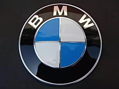 BMW Emblem 82mm Front Hood Rear Trunk Badge Roundel 2 Pins For BMW E39 E90 E92