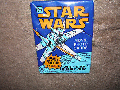 1978 Topps Star Wars Movie Photo Cards Series 5 Unopened Wax Pack With Bubblegum