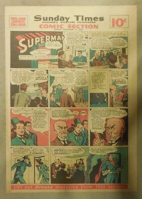 Superman Sunday Page #367 by Siegel & Shuster from 11/10/1946 Tab Page:Year #7!
