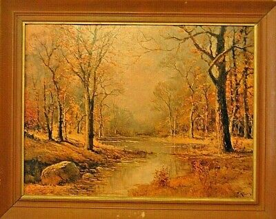 "Vintage/Antique Framed Robert Wood ""October Morn"" Lithograph Signed"