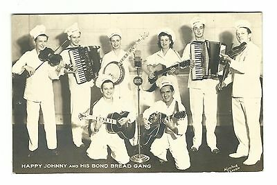 1942 Wartime Advertising Postcard Bond Bread Band Happy Johnny Defense Bond Post