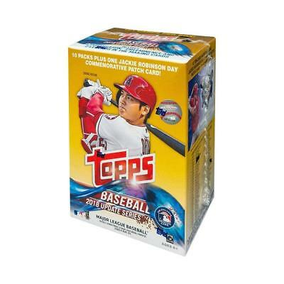2018 Topps Update Baseball 10 Pack Blaster Box with Jackie Robinson Patch Card