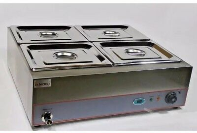 Electric wet well Bain Marie DIGITAL 4X GN 1/2 Pans, Lids & Tap, special offer