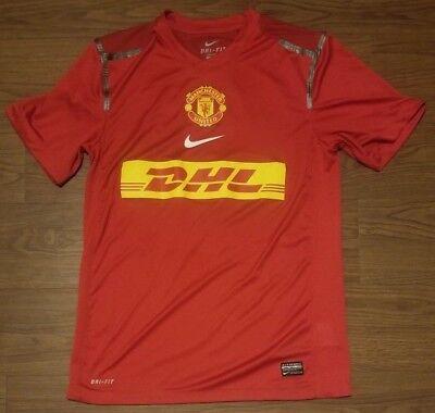 08a6630f0 MENS NIKE DRI-FIT Red Chevrolet Manchester United Soccer Jersey Size ...