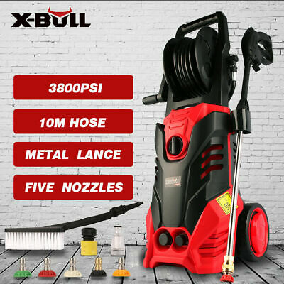 X-BULL 3800 Psi High Pressure Water Washer Cleaner Electric Gurney Pump Hose